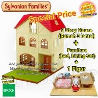Sylvanian Families paket bundling Rumah Furniture Figur original Epoch