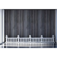 Laeacco Black Wooden Board Pillars Wall Interior Home Decor Scene