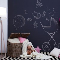 Laeacco Blackboard Balloon Bear Toy Pillow Baby Interior Photo