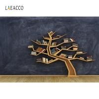 Laeacco Blackboard Bookshelf Backdrop Child Portrait Photography