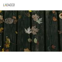 Laeacco Black Wooden Board Photography Backdrops Customized Portrait
