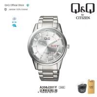 Q&Q QnQ QQ Original Jam Tangan Pria Analog - A208 A208J Water Resist