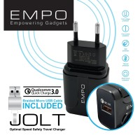 EMPO JOLT Wall Charger 1 Port Quick Charge 3.0 – Black