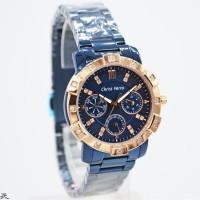 JAM TANGAN CHRIST VERRA CV 75029L-1J WANITA ROSEGOLD BLUE ORIGINAL