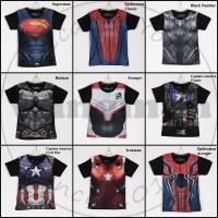 Kaos Kostum Superhero Anak Lengan Pendek 3-12th