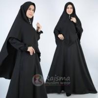 Stelan Jilbab Syar'i / Gamis Untuk Haji Umroh /Gamis Polos