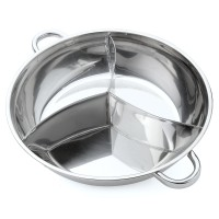 [TOT] 400/340mm 3 Taste Stainless Steel Hot Pot Cookware Soup