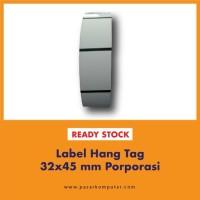 Label Hang Tag 32x45 mm Porporasi
