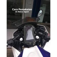 Holder HP Sepeda Motor AC06 | Bracket Phone Gojek Grab Uber | Roswheel