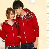 jaket / jacket couple king qing coklat