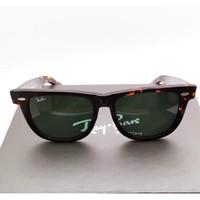Kacamata Rb Wayfarer Tortoise glossy lensa kaca besar size 54