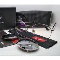 Kacamata Rb clip on 3520 silver lensa bening & silver polarized