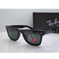 Kacamata Rb Wayfarer 2140 hitam glossy lensa polarized size 50