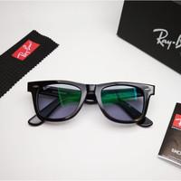 Kacamata Rb Wayfarer hitam glossy photocromic abu LIMITED Kacamata
