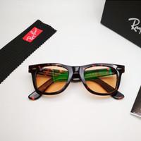 Kacamata Rb Wayfarer tortoise glossy photocromic coklat LIMITED