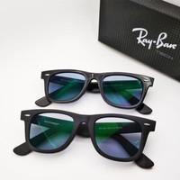 Kacamata Rb Wayfarer 2140 frame hitam doff lensa photocromic grey