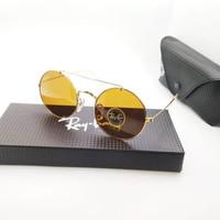 Kacamata Rb 8347 Palang gold lensa kaca coklat - sunglasses