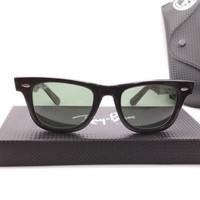Kacamata Rb Wayfarer 2140 hitam glossy motif peace love freedom