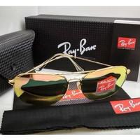 Kacamata Rb Caravan 3136 frame gold lensa kaca pink Kacamata Sungless