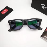 Kacamata Rb Wayfarer hitam doff photocromic abu LIMITED Kacamata