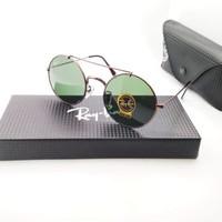 Kacamata rB 8347 Palang coklat lensa hijau botol - sunglasses