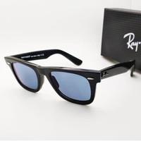 Kacamata Rb Wayfarer 2140 hitam glossy lensa photocromic grey