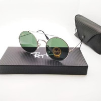 Kacamata Rb 8347 Palang silver lensa hijau botol - sunglasses