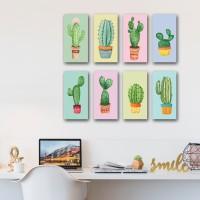 jual dekorasi ruangan rumah hiasan dinding kaktus - kota