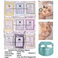 Soderta Peel Off Mask repack 30 GRAM Masker klinik bubuk rubber jelly