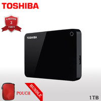 Toshiba Canvio Advance Hardisk / HDD Eksternal 1TB USB3.0 + Pouch