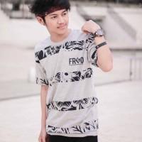 Baju Kaos Tshirt Pria Cowok Keren Terbaru Warna Abu Fringgo Grey FRG