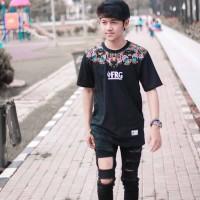 Baju Kaos Tshirt Pria Cowok Keren Terbaru Hitam Full Color FRG