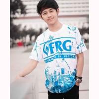 Baju Kaos Tshirt Pria Cowok Keren Terbaru Warna Putih White Blue FRG
