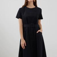 Berrybenka Sasila Corduroy Dress Navy