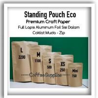 STANDING POUCH ECO LAMINATED CRAFT PAPER kemasan kertas kraft food sna