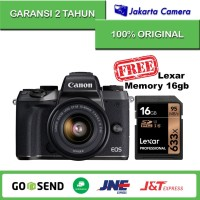 Canon EOS M5 Kit 15-45mm IS STM Black Free Memory Sony 8gb