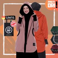 HIjacket ELEKTRA Original - Hijaket Jaket Muslimah Wanita Hijab - BROWN, ALL SIZE FIT L