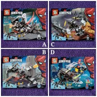 BRICKS SPIDERMAN 4IN1 COLECTION (IMPORT) - MAINAN EDUKASI ANAK LEGO KW