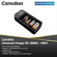 Camelion Charger Baterai Universal for AA / AAA C D 9V BC-0906S