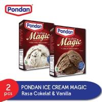 Poncan Ice Cream Cokelat & Vanilla