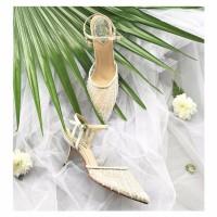Rosella White Wedding shoes 8.3cm