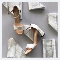 Sophie Plain White Wedding shoes 7cm