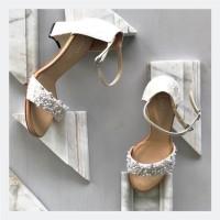 Sophie Pearl White Wedding shoes 7cm