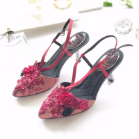 Raylene Maroon Party shoes 7.3cm