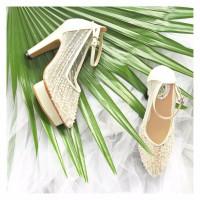 Prudence White Wedding shoes 10.5cm