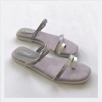 Grey Strappy Casual Flats
