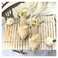 Rae Gold Party shoes 8.3cm