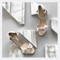 Sophie Flower White Floral Wedding shoes 7cm