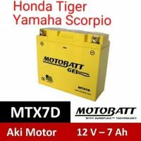 Aki Motobatt MTX7D Gel Motor Honda Tiger Yamaha Scorpio, Nouvo Motobat