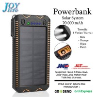 Solar Power Bank Battery Charger Portable Durable Waterproof 20000mAh